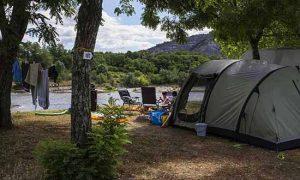 Mooie campings aan een rivier in de Ardèche